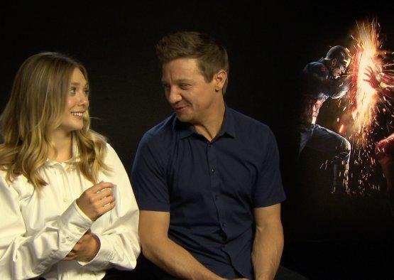 Captain America: Civil War - Elizabeth Olsen e Jeremy Renner