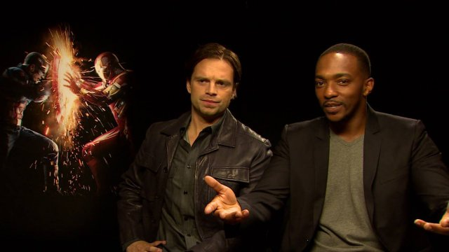 Captain America: Civil War - Sebastian Stan e Anthony Mackie