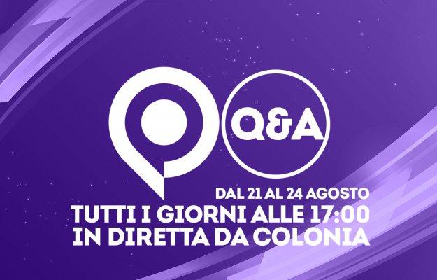 GamesCom 2018: Q&A in diretta da Colonia oggi pomeriggio alle 17:00!