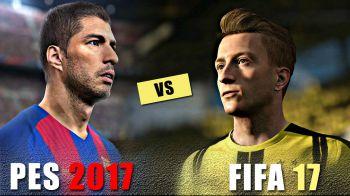 FIFA 17 vs PES 2017: qual è il miglior gioco di calcio dell'anno ?