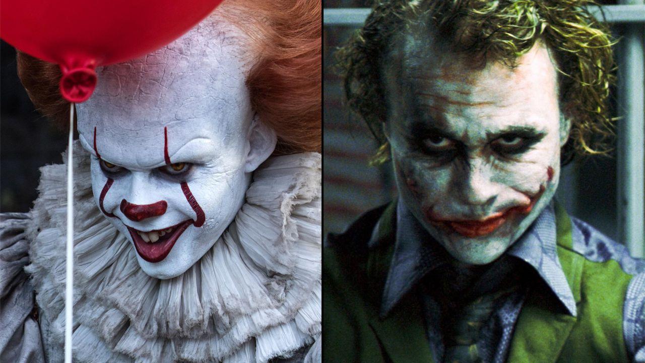 IT, clown a confronto: il Pennywise di Skarsgård come il Joker di Ledger?