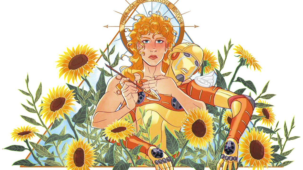 speciale Jojo Vento Aureo: Giorno Giovanna nell'illustrazione di Flavia de Vita