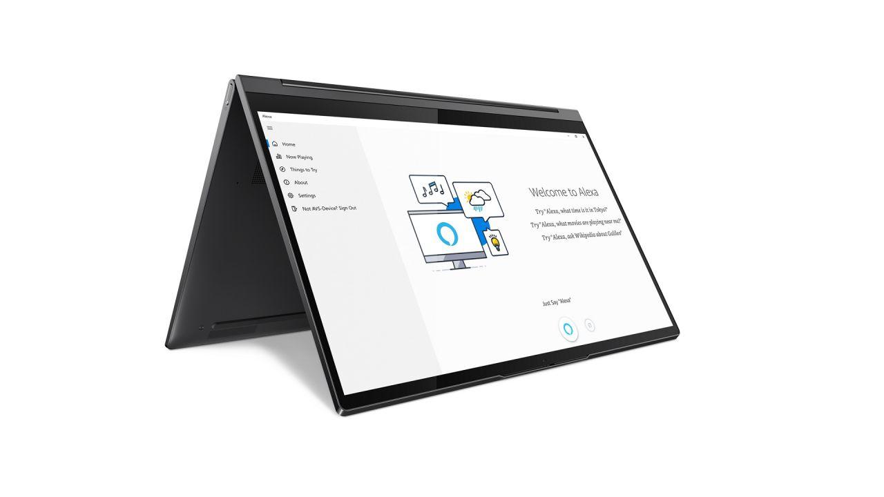 Lenovo e l'intelligenza artificiale sui portatili Yoga, tra Cortana e Alexa