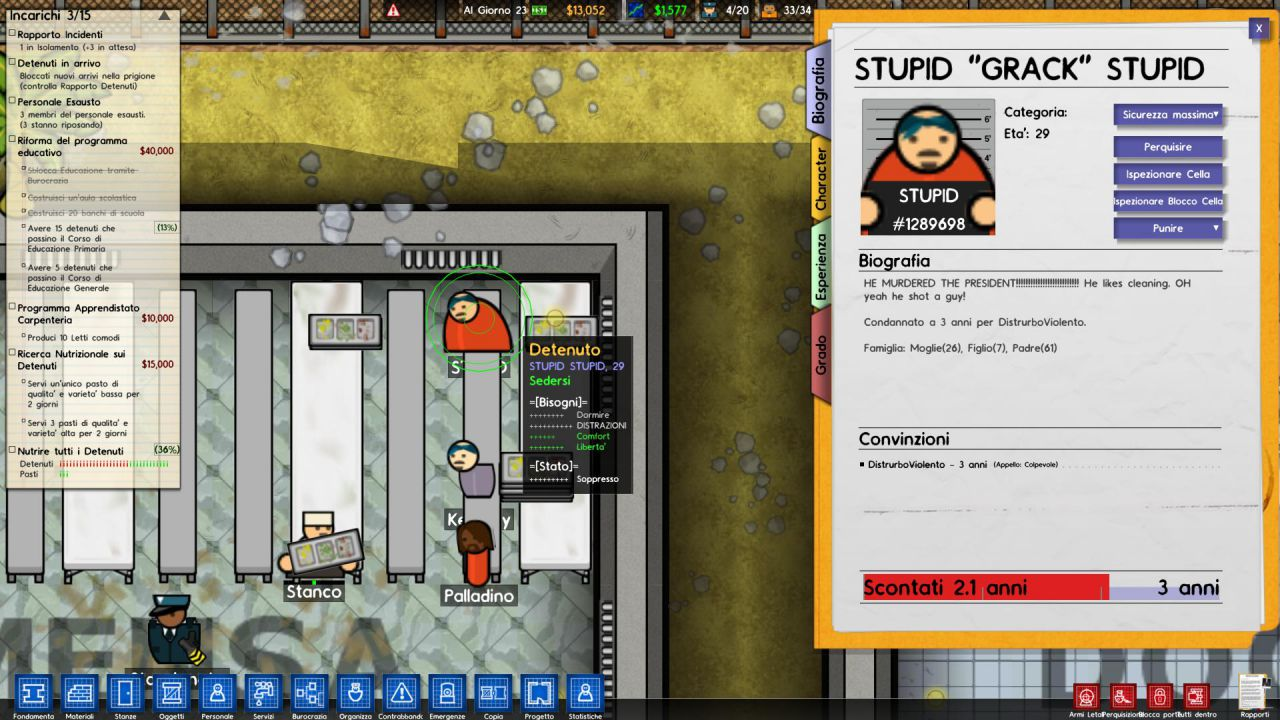 hands on Prison Architect