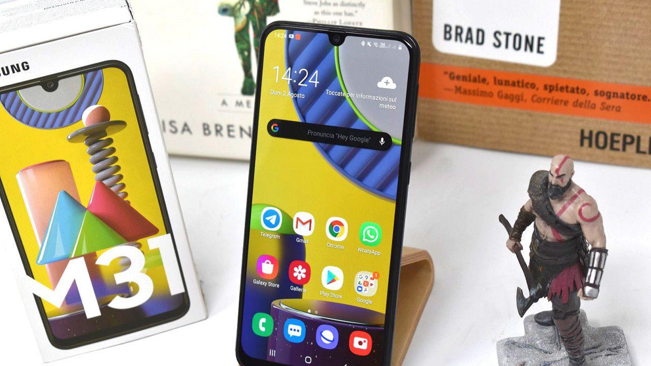 recensione Samsung Galaxy M31 Recensione: smartphone low cost dall'ottima autonomia