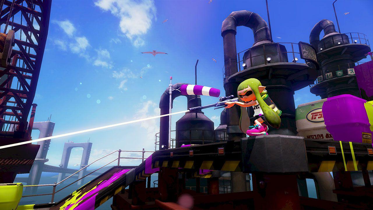 Splatoon: nuovo contatto con il colorato splattatutto di Nintendo.