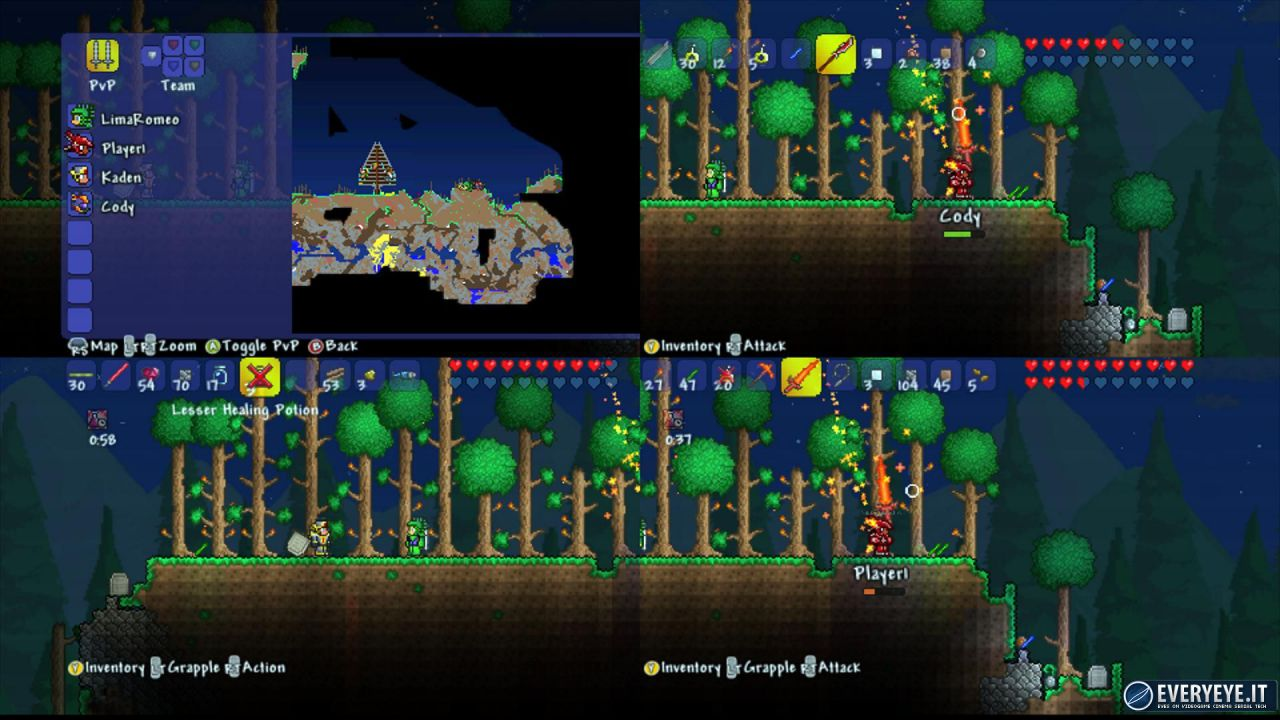 hands on Terraria