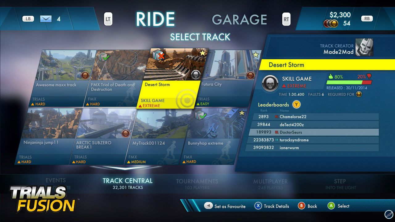 hands on Trials Fusion - Single-player