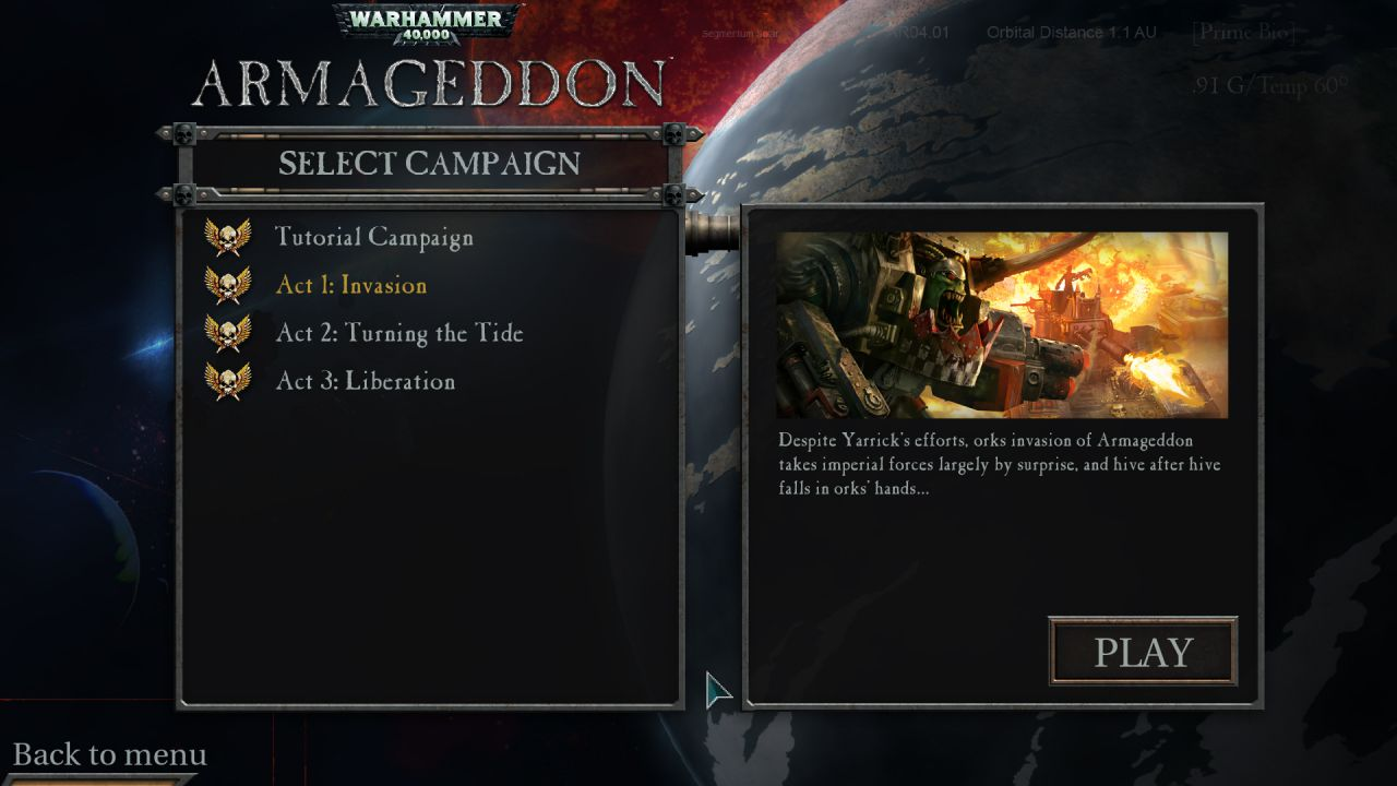 recensione Warhammer 40.000: Armageddon