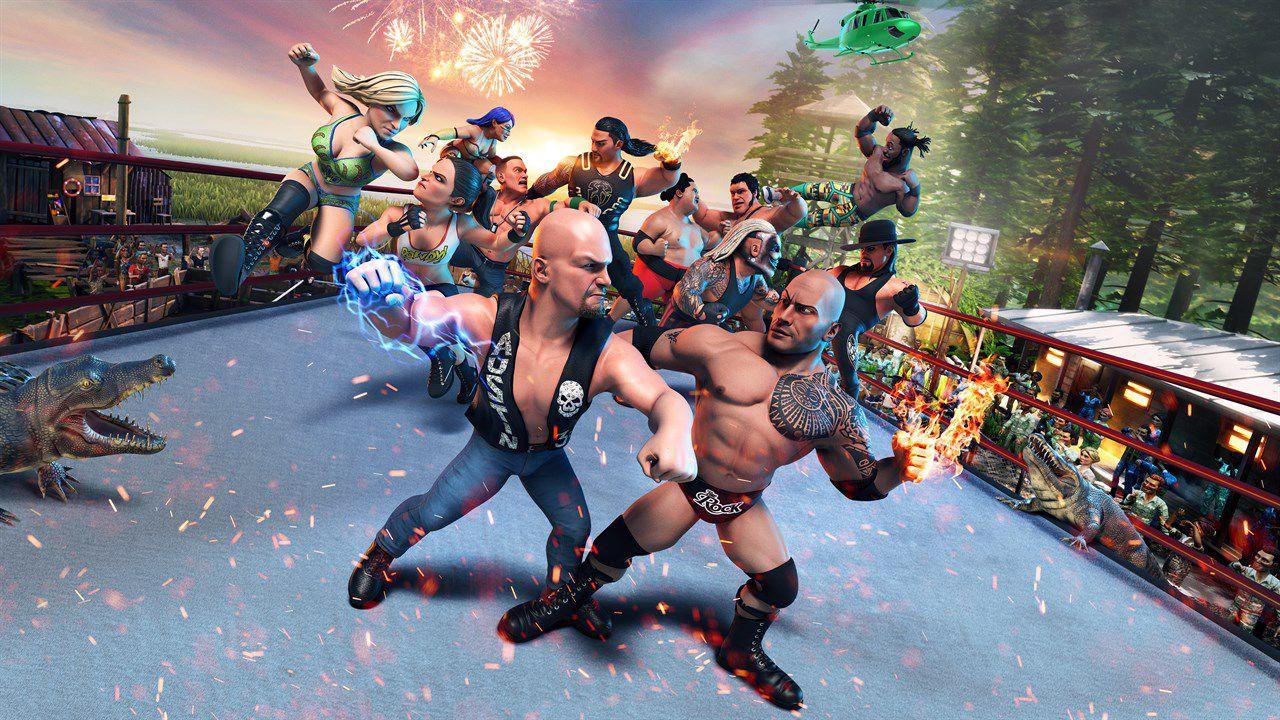 recensione WWE 2K Battlegrounds Recensione: wrestling in miniatura