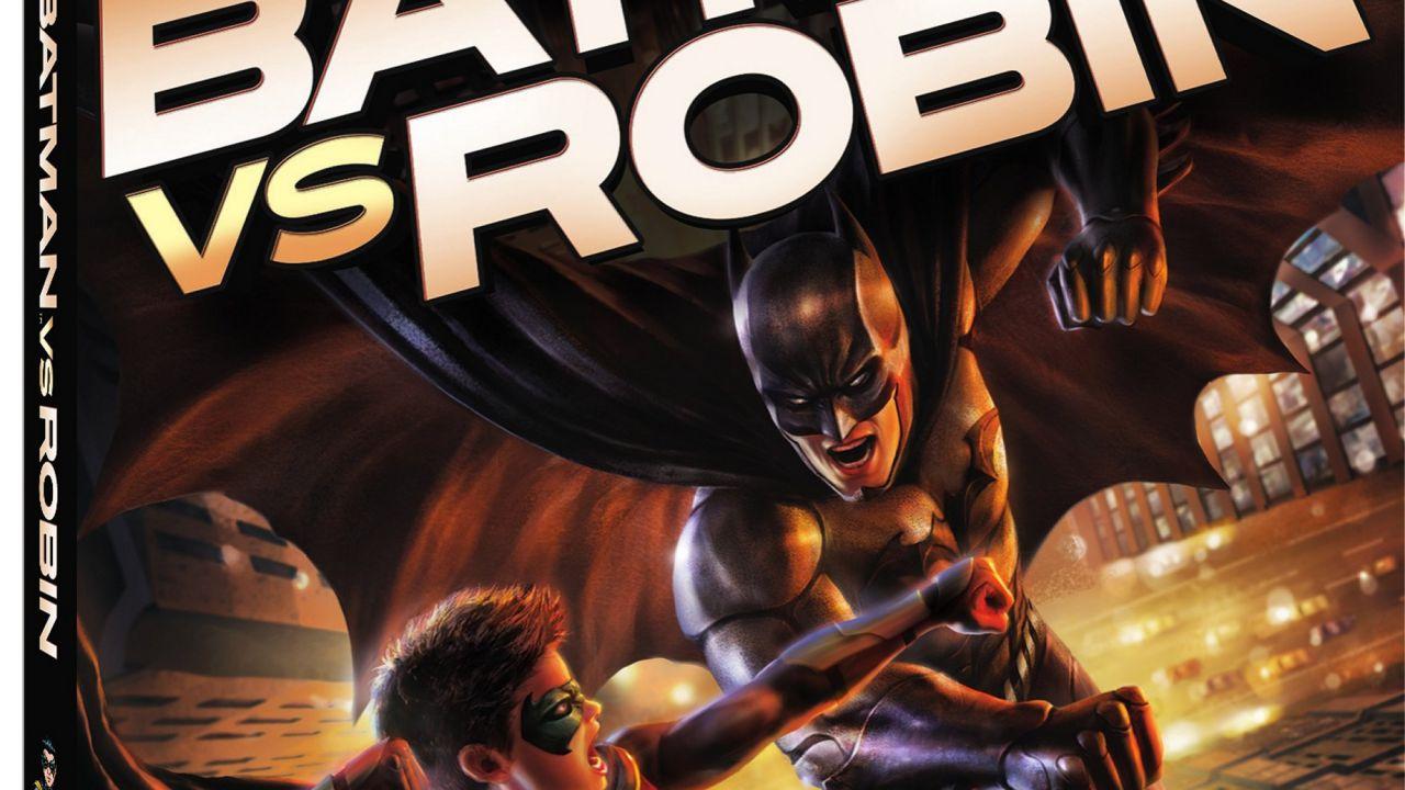 Batman vs Robin: ecco la cover e i contenuti speciali dell'edizione home video