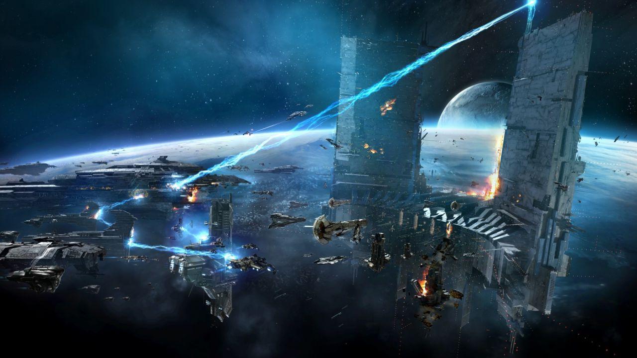 EVE Online: 3000 giocatori hanno celebrato i 10 anni dell'MMO nell'evento Flight of a Thousand Rifters III