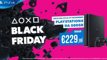 Video ps4 500gb a 229.99€, playstation vr a 199.99 euro per il black friday!