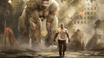 Video the rock è scatenato nel nuovo trailer di rampage - furia animale