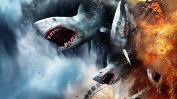 Video the last sharknado: it's about time, squali robot nel nuvolo trailer del capitolo finale