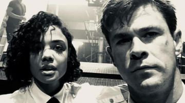 Video men in black: chris hemsworth e tessa thompson in foto e video dal set