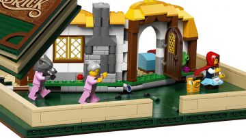 Video lego omaggia le fiabe con un libro pop-un in mattoncini