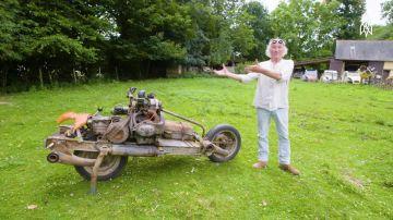 Video emile leray, l'uomo che ha costruito una moto a partire da una citroën 2cv