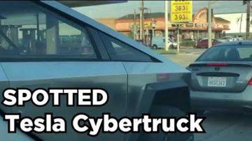 Video tesla cybertruck avvistato nuovamente in strada, ed è impressionante
