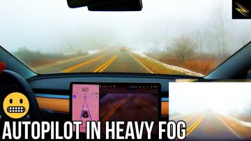 Video nella nebbia l'autopilot di tesla è meglio degli esseri umani