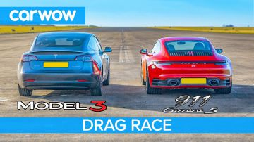 Video la tesla model 3 sfida anche una porsche 911 in una drag race: chi vince?