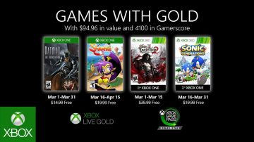 Video games with gold: microsoft svela i giochi gratis di marzo per xbox one e xbox 360