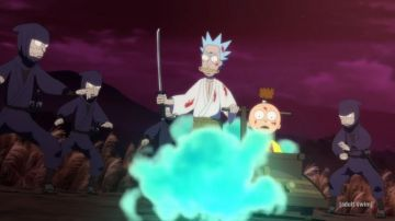 Video rick and morty tornano con samurai & shogun, un nuovo cortometraggio in stile anime