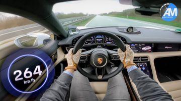 Video con la porsche taycan turbo s sulle autostrade tedesche a 270 km/h