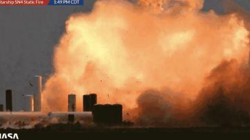 Video spacex: violenta esplosione per il prototipo sn4 della starship durante un test