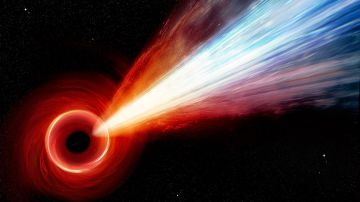 Video filmato lo spettacolare getto, vicino alla velocità della luce, di un buco nero