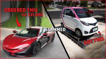 Video uomo acquista una sportiva elettrica per 26.000 euro, ma riceve un'automobilina rosa