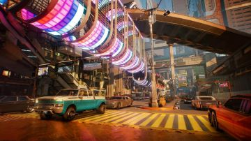 Video cyberpunk 2077: night city prende vita nel video gameplay su png e abitanti dei quartieri
