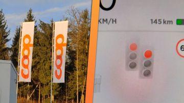 Video la guida autonoma di tesla impazzisce davanti al logo coop