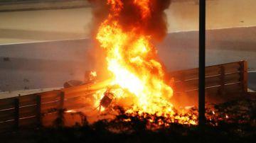 Video paura e fiamme in f1 al gp del bahrain: romain grosjean è salvo per miracolo