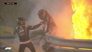 Video romain grosjean salvo per miracolo: l'incidente spiegato da luca salvadori