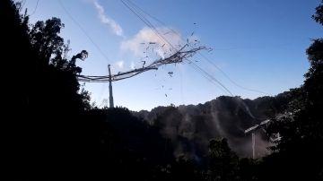 Video il canto del cigno del radiotelescopio di arecibo: ecco il video del crollo
