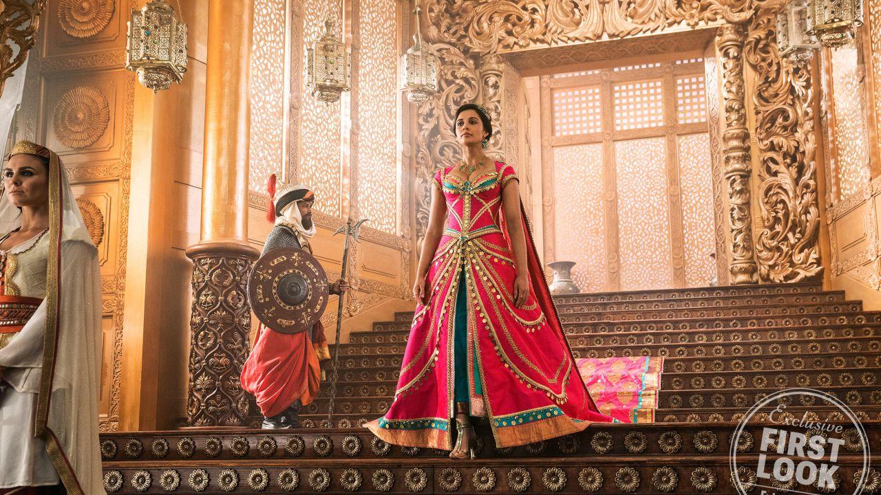 Aladdin: la bellissima Naomi Scott nei panni di Jasmine nelle nuove foto dal set
