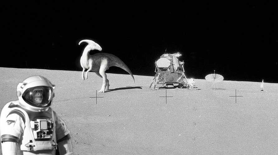 """Alcuni """"resti"""" di dinosauro potrebbero trovarsi sulla Luna: ecco come ci sono arrivati"""