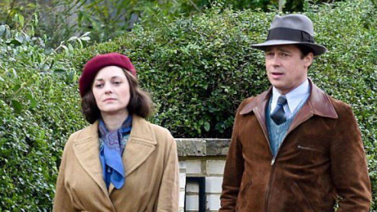 Allied: le nuove foto con Brad Pitt e Lizzy Caplan