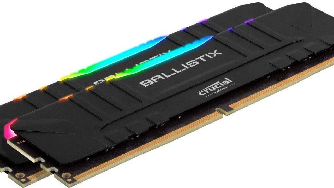 Amazon: super sconto su 16GB di RAM DDR4 da gaming Crucial Ballistix