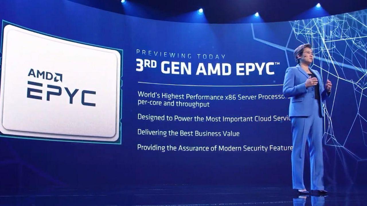 AMD ci da un assaggio delle prossime CPU EPYC 'Milan' durante CES 2021