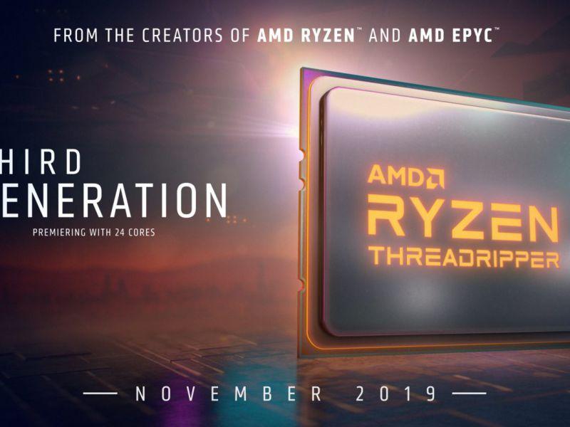 AMD Ryzen ThreadRipper 3000 in arrivo a novembre, è ufficiale