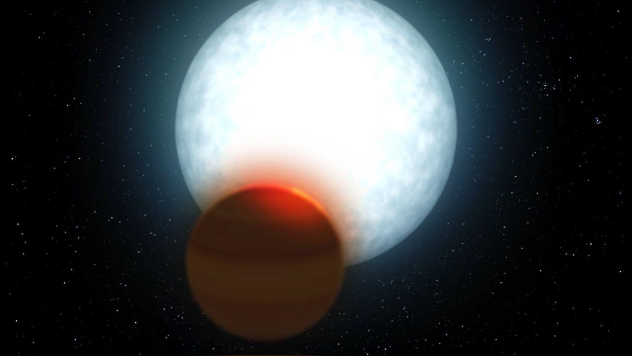 Analizzata l'atmosfera di un nuovo esopianeta caldo circa 1.700 gradi