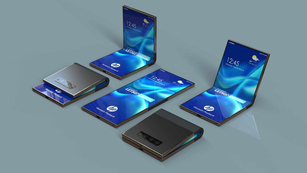 Anche HP pensa al suo smartphone pieghevole: ecco render e brevetti
