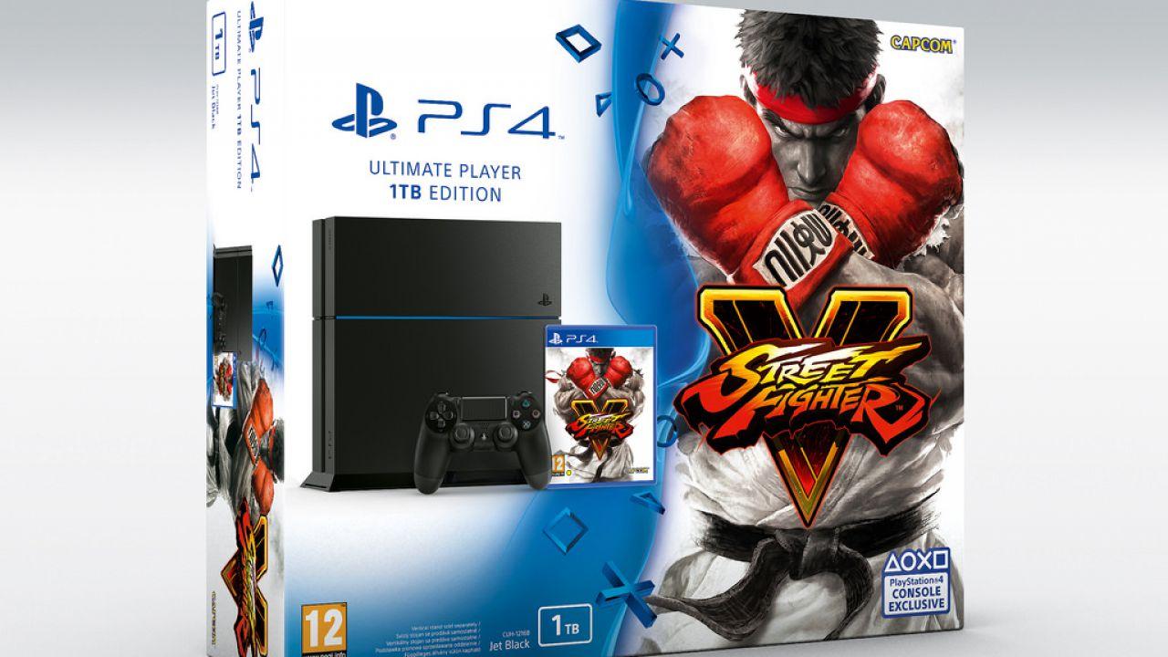 Anche Street Fighter V sarà disponibile in bundle con PlayStation 4