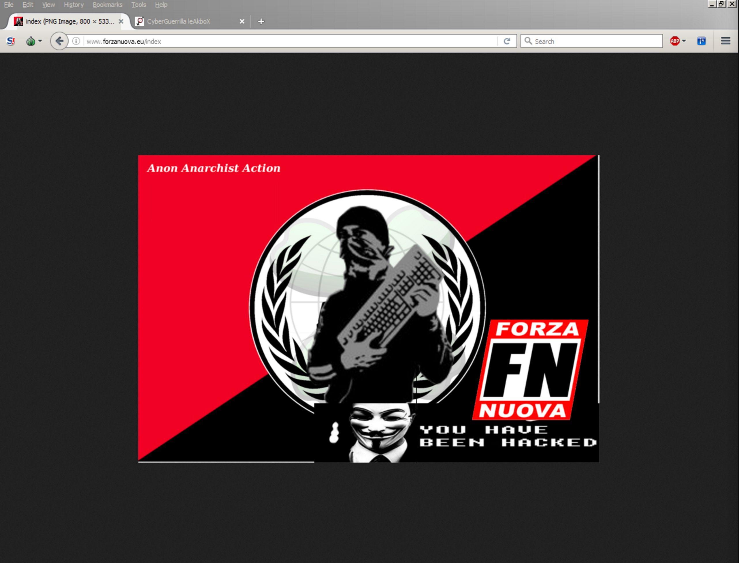 Anonymous Italia: attacco al sito di Forza Nuova