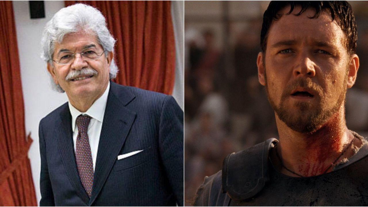 Antonio Razzi diventa Russell Crowe: guardate l'esilarante imitazione de Il Gladiatore