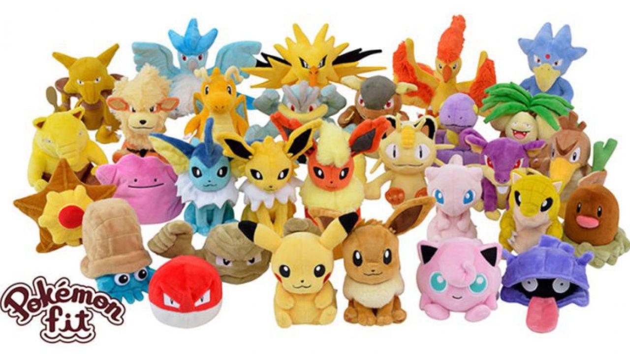Arrivano in Giappone i mini peluche dei 151 Pokémon di prima generazione