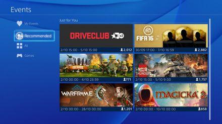 Arrivano i primi Eventi tramite la nuova app PlayStation 4