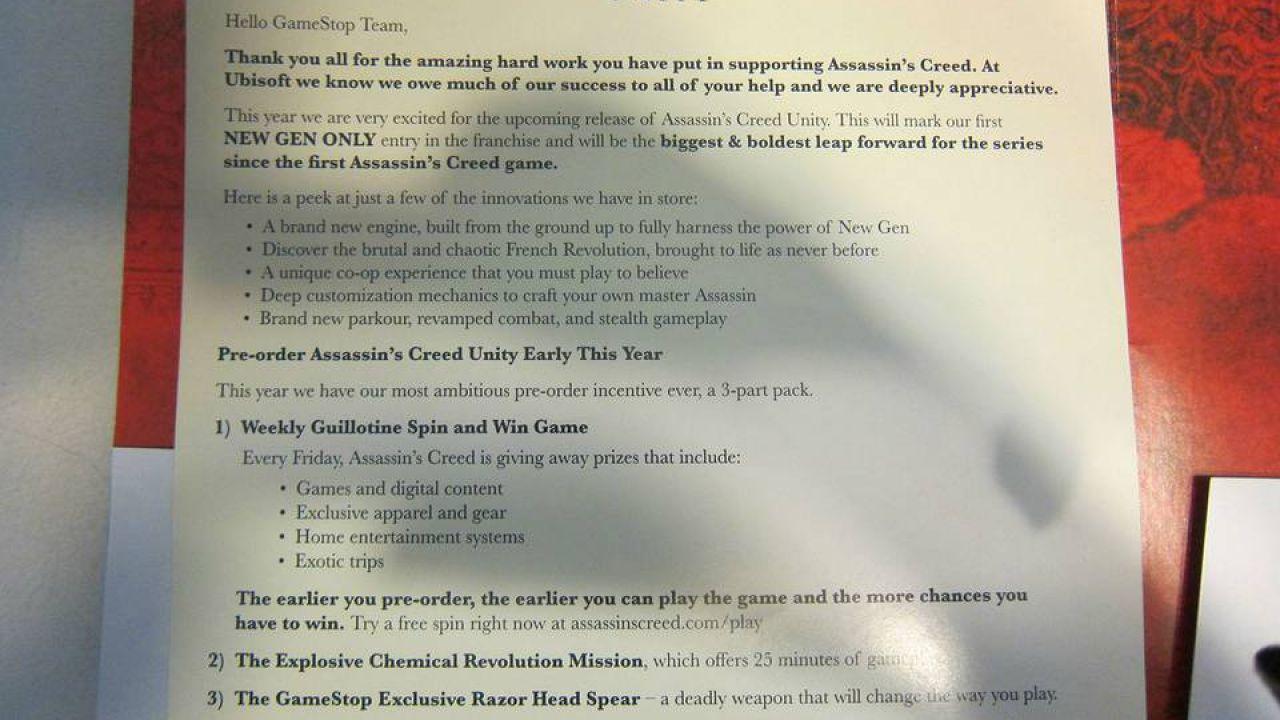 Assassin's Creed Unity: DLC esclusivi acquistando prodotti per la rasatura
